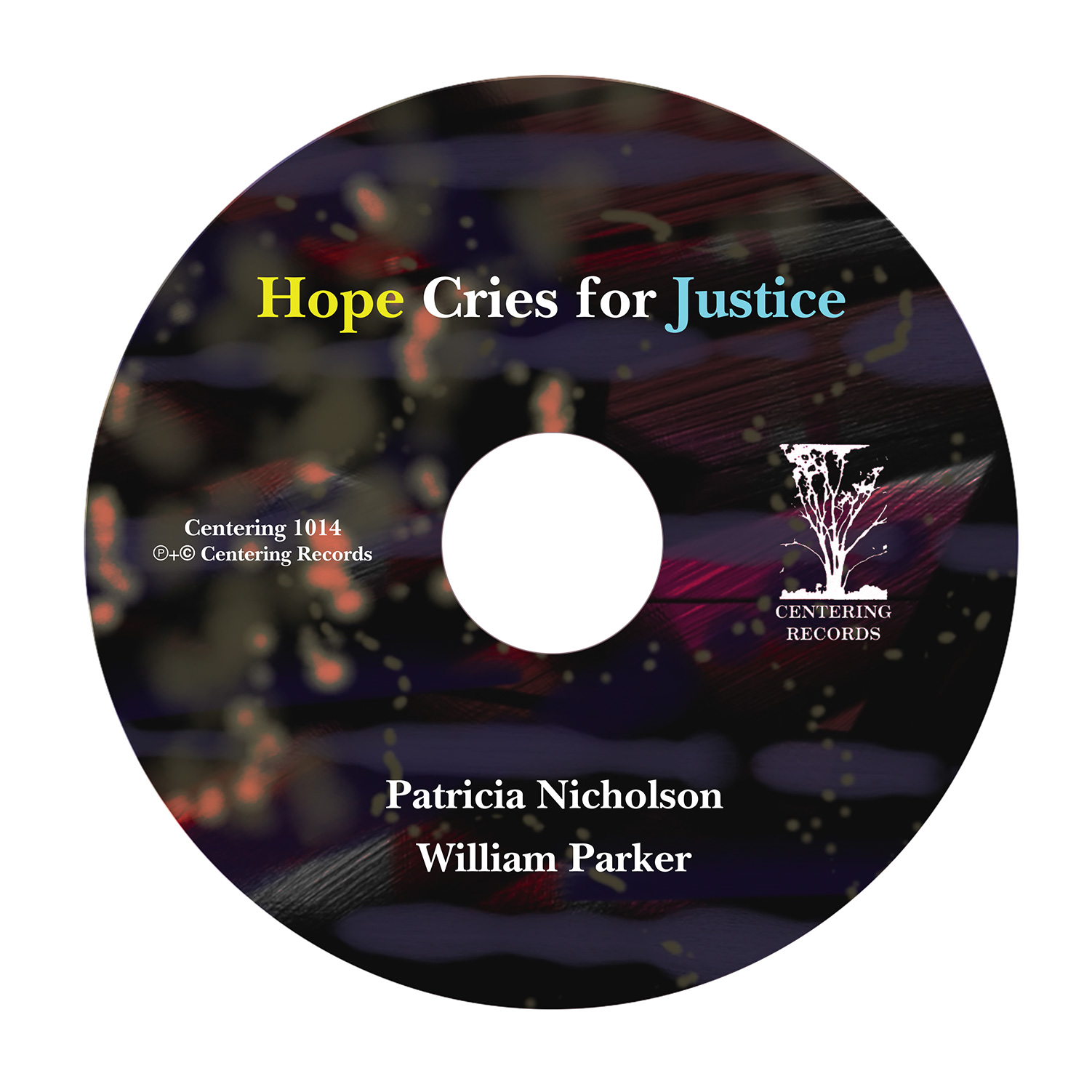 cd art for Hope Cries For Justice by Patricia Nicholson and William Parker